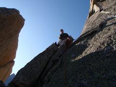 Rock Climbing Photo: Barb Flake belay.