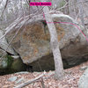 The Sun Boulder - This is the first boulder you come to heading into area 51