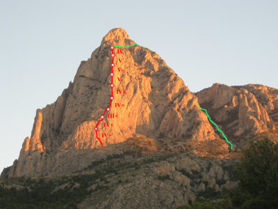 Rock Climbing Photo: Puig Campana, Benidorm