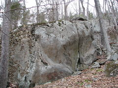 Rock Climbing Photo: Potential, up and to the right of the Sun Boulder....