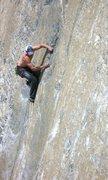 Rock Climbing Photo: Dan leading The Bluffer