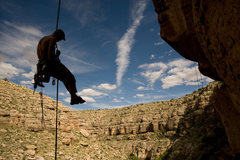 Rock Climbing Photo: Rapping off the top of another new route in Chevel...