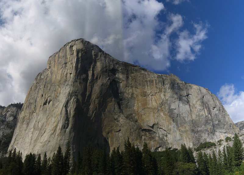 Photo stitch of El Cap, Yosemite Valley, CA. <br> Photo by: Matt Johnson