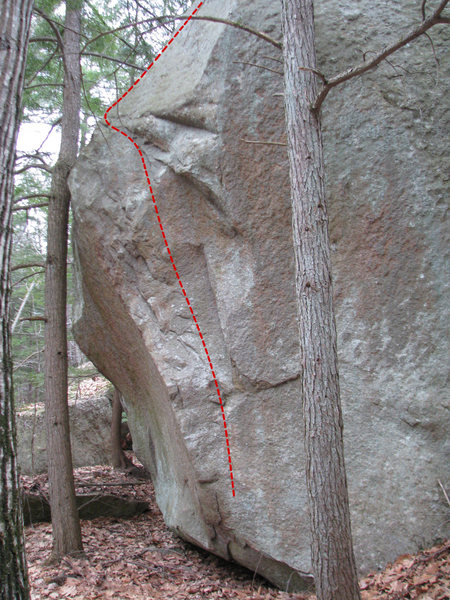Rock Climbing Photo: Another view of The Brilliant Boulder