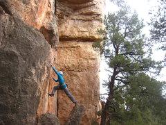 Rock Climbing Photo: Launching off.