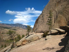 Rock Climbing Photo: Starting ledge for Fool's Gold, Beam Me Up Scotty,...