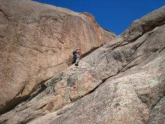 Rock Climbing Photo: The fun fifth pitch arete.