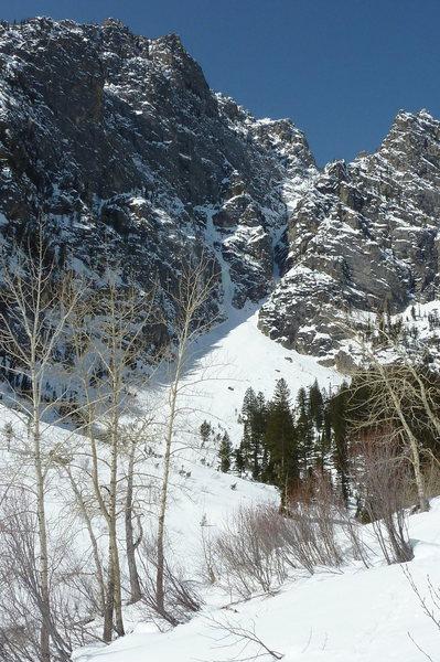 Rock Climbing Photo: view of Prospector Falls