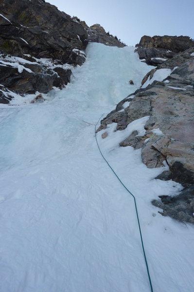 Rock Climbing Photo: Prospector's Falls first pitch