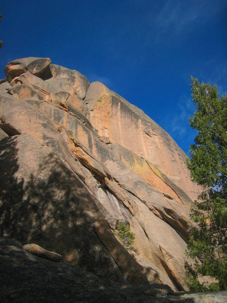 Rock Climbing Photo: The incredible top dihedrals seen from the left si...