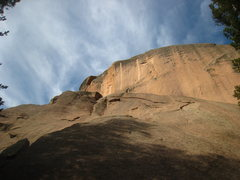 Rock Climbing Photo: Pitch 1 is not visible.  Pitch 2 requires a few sl...