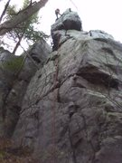 Rock Climbing Photo: Here is a pic of the hanging belay for T Tower. Pr...