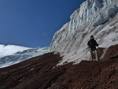 Rock Climbing Photo: Where the glacier starts