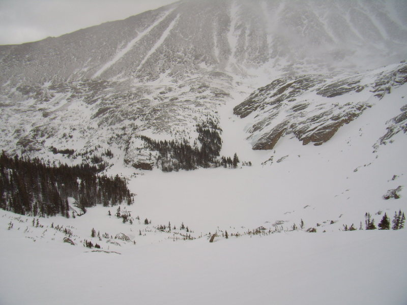 Rock Climbing Photo: Still winter up here.  Black Lake (RMNP) April 17t...