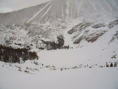 Rock Climbing Photo: Still winter up here.  Black Lake (RMNP) April 17t...