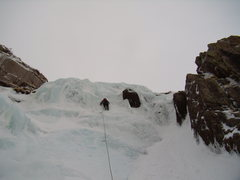 Rock Climbing Photo: John Klooster starting up West Gully.  Black Lake ...
