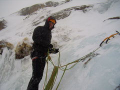 Rock Climbing Photo: Other crazy people heading up West Gully.  Black L...