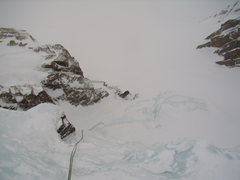 Rock Climbing Photo: Looking back down the first pitch.  West Gully RMN...