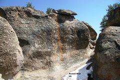 Rock Climbing Photo: Pocket Wall Topo