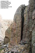 Rock Climbing Photo: Gorgeous Tower North West face topo