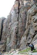 Rock Climbing Photo: Triple Play Cliff - Center Left Topo