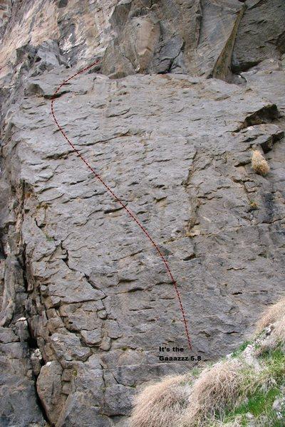 Rock Climbing Photo: Triple Play Cliff - Right Topo
