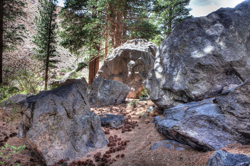 Rock Climbing Photo: Bouldering opportunities creek-side below Lower Ro...