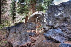 Rock Climbing Photo: Bouldering opportunities creek-side below Lower Ro...
