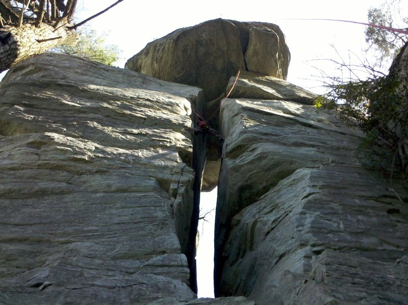 Rock Climbing Photo: Chimney Man.  There are 2 finishes for this route....