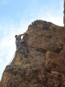 Rock Climbing Photo: Half-way up the long arete.