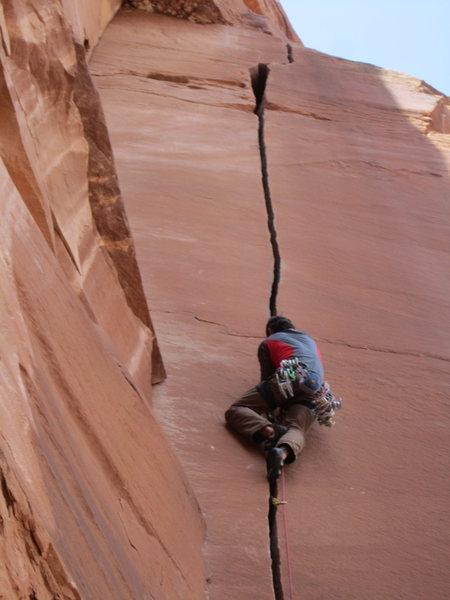 Rock Climbing Photo: What a splitter!!!!!