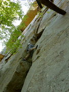 Rock Climbing Photo: Gary on Arch, Jamestown, AL.