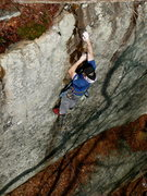 Rock Climbing Photo: Jeff on the opening moves of Otter Limits, Jamesto...