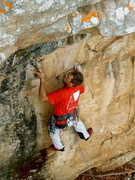 Rock Climbing Photo: Bryan on the techy face, Otter Limits, Jamestown, ...