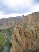 "Rock Climbing Photo: View from the top of ""Sky Chimney"" at Sm..."
