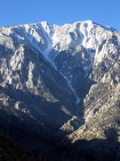 Rock Climbing Photo: Snow Creek, as seen from approx. 1/2 way in on the...