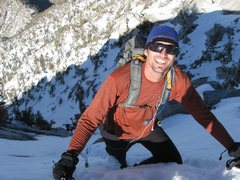 Rock Climbing Photo: R Shore topping out on the Snow Creek/North Face r...