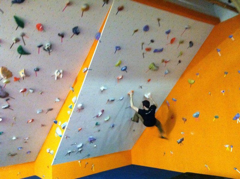 Rock Climbing Photo: Steep walls at the MN Climbing Co-op