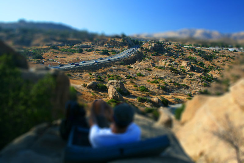 Tilt shift of an earlier photo post. A favorite place to kick back at the end of a session.