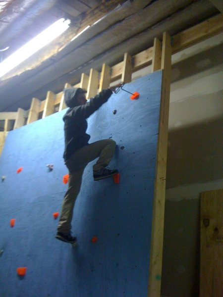 Rock Climbing Photo: Our first and very own slab wall.