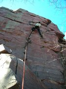Rock Climbing Photo: Dmitriy starting out the 2011 DL season on a stout...