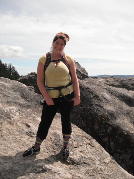 Kara on top of Cal Cliff