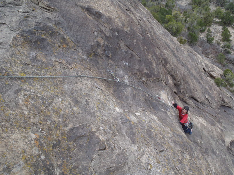 Getting close to the crux.