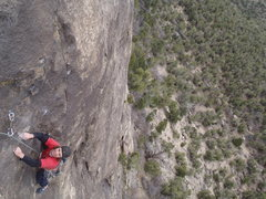 Rock Climbing Photo: Cool angle. Cruxy.