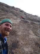 Rock Climbing Photo: Gettin' some run out on pitch 3.