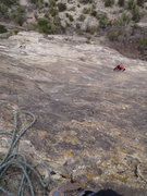 Rock Climbing Photo: Nick following pitch 4.