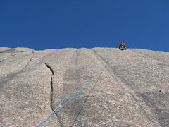 Rock Climbing Photo: You can see the line of bolts under the climber.