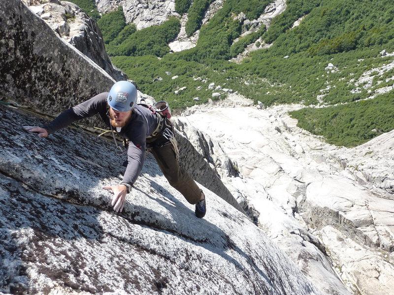 Rock Climbing Photo: Thor on P4