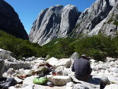 Rock Climbing Photo: Life's tough in Valle Trinidad.