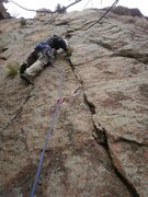 Rock Climbing Photo: Starting the crux.